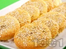 Рецепта Бързи соленки с извара, сусам, къри и чесън